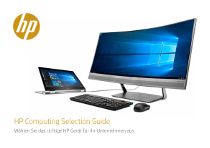 HP Computing Selection Guide DE 2017